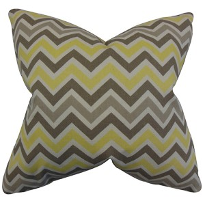 Howel Yellow 18 x 18 Zigzag Throw Pillow