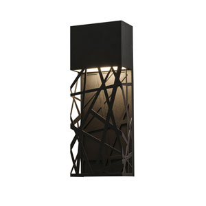 Boon Black 16-Inch LED ADA Compliant Outdoor Wall Sconce
