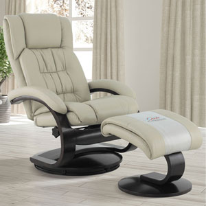 Narvick Recliner in Beige Breathable Air Leather