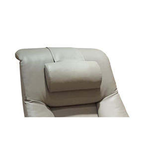 Cervical Pillow in Putty Top Grain Leather