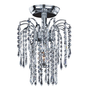 Cascade Chrome One-Light Semi-Flush Mount