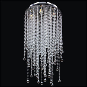 Crystal Rain Crystal Five Light Flush Mount