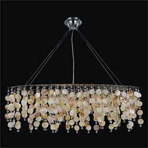 Seaside Dreams 5 Light Chandelier with Seashell and Crystal