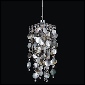 Cityscape Iridescent Dark Shell One Light Mini Pendant