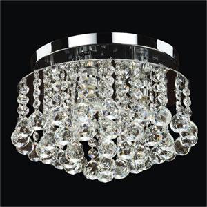 Prestige Crystal Three Light Flush Mount