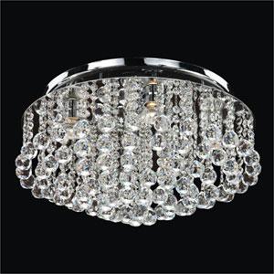 Prestige Crystal Five Light Flush Mount