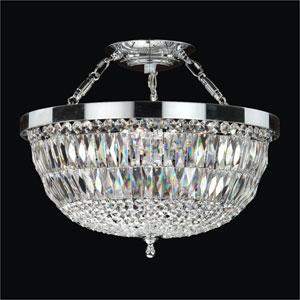 Lucia Crystal Five Light Semi-Flush