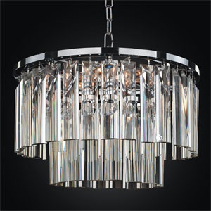 Wind Chime Chrome 16-Inch Chandelier