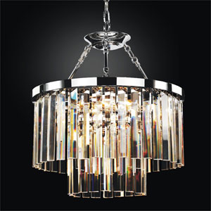 Timeless Chrome 19-Inch Convertible Chandelier