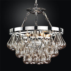 Concorde Chrome 16-Inch Convertible Chandelier