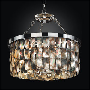 Malibu Chrome 19-Inch Convertible Chandelier