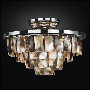 Malibu Chrome 13-Inch Three Tier Flush Mount
