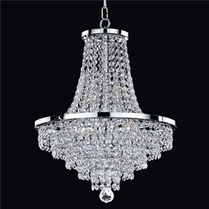 Vista Silver Pearl Eight-Light Chandelier with Signature Crystal