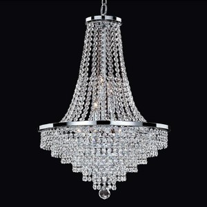 Vista Silver Pearl Nine-Light Chandelier with Signature Crystal