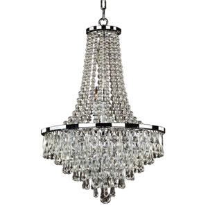 Summer Rain Chrome Nine-Light Chandelier
