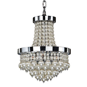 Vintages Chrome 11-Inch Three-Light Chandelier