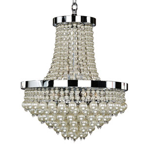 Vintages Chrome Eight-Light Chandelier