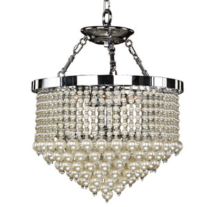 Vintages Chrome 16-Inch Three-Light Chandelier