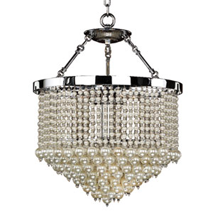 Vintages Chrome 19-Inch Three-Light Chandelier