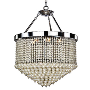 Vintages Chrome 23-Inch Three-Light Chandelier