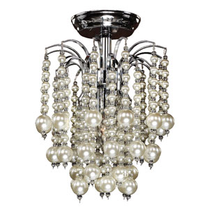 Asti Chrome One-Light Semi-Flush Mount