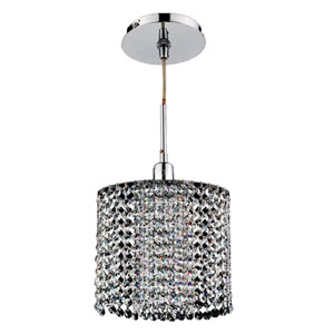 Fuzion X Oval Two Layer Crystal and Chrome One-Light Mini Pendant