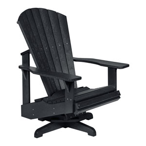 Generation Black Swivel Adirondack Chair