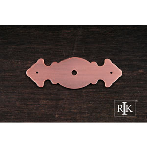 Distressed Copper Decorative Plate with One Hole