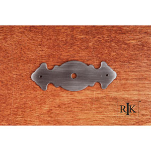 Distressed Nickel Decorative Plate with One Hole