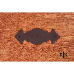 Oil Rubbed Bronze Decorative Plate with One Hole