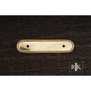 Polished Brass Beaded Oblong Pull Backplate