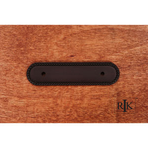 Oil Rubbed Bronze Beaded Oblong Pull Backplate