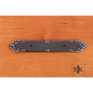 Distressed Nickel Ornate Edge Pull Backplate