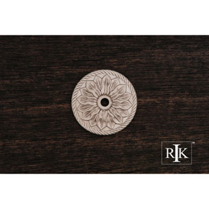 Pewter Flower Knob Backplate