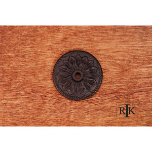 Oil Rubbed Bronze Flower Knob Backplate