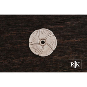 Pewter Daisy Knob Backplate