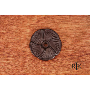 Oil Rubbed Bronze Daisy Knob Backplate