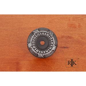 Distressed Nickel Cross and Petal Knob Backplate