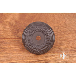 Oil Rubbed Bronze Cross and Petal Knob Backplate
