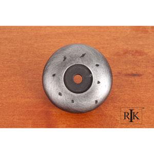 Distressed Nickel Distressed Knob Backplate