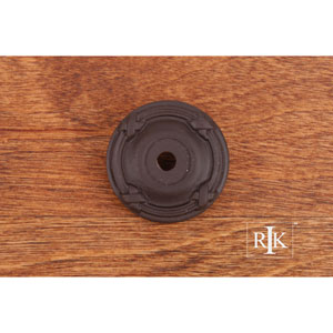 Oil Rubbed Bronze Line and Cross Knob Backplate