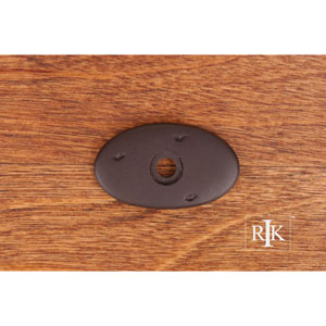 Oil Rubbed Bronze Distressed Oval Backplate
