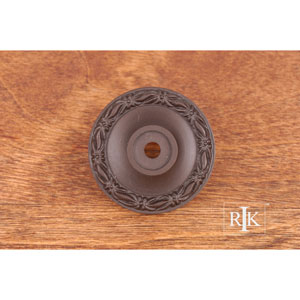 Oil Rubbed Bronze Flat Deco-Leaf Knob Backplate