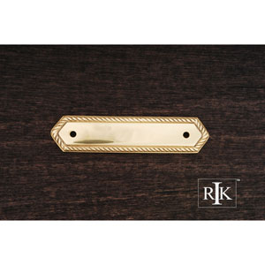 Polished Brass Rope Pull Backplate