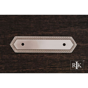 Pewter Rope Pull Backplate