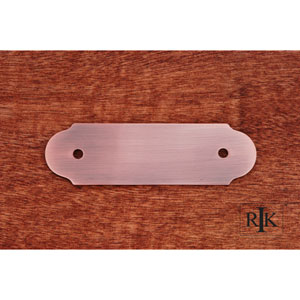 Antique Copper Smooth Pull Backplate