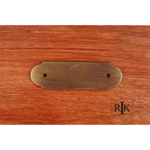 Antique English Smooth Pull Backplate