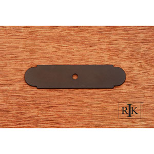 Oil Rubbed Bronze Small Backplate with One Hole