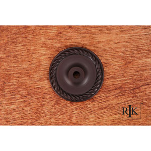 Oil Rubbed Bronze Rope Single Hole Backplate