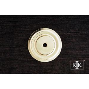Polished Brass Plain Single Hole Backplate
